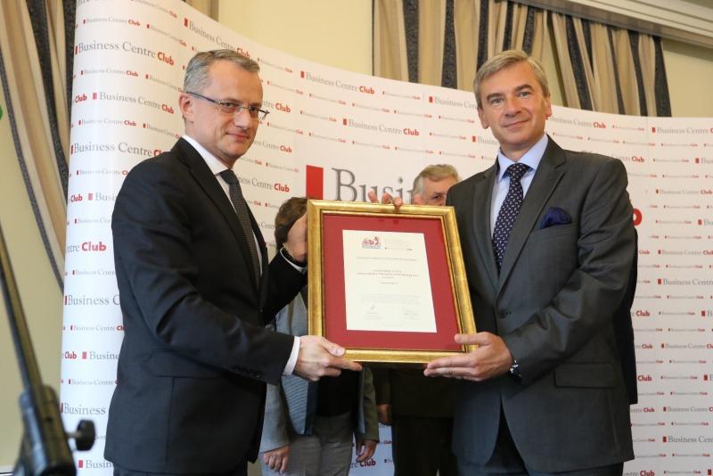Business Centre Club - GFKM nagroda Ambasador Polskiej Gospodarki