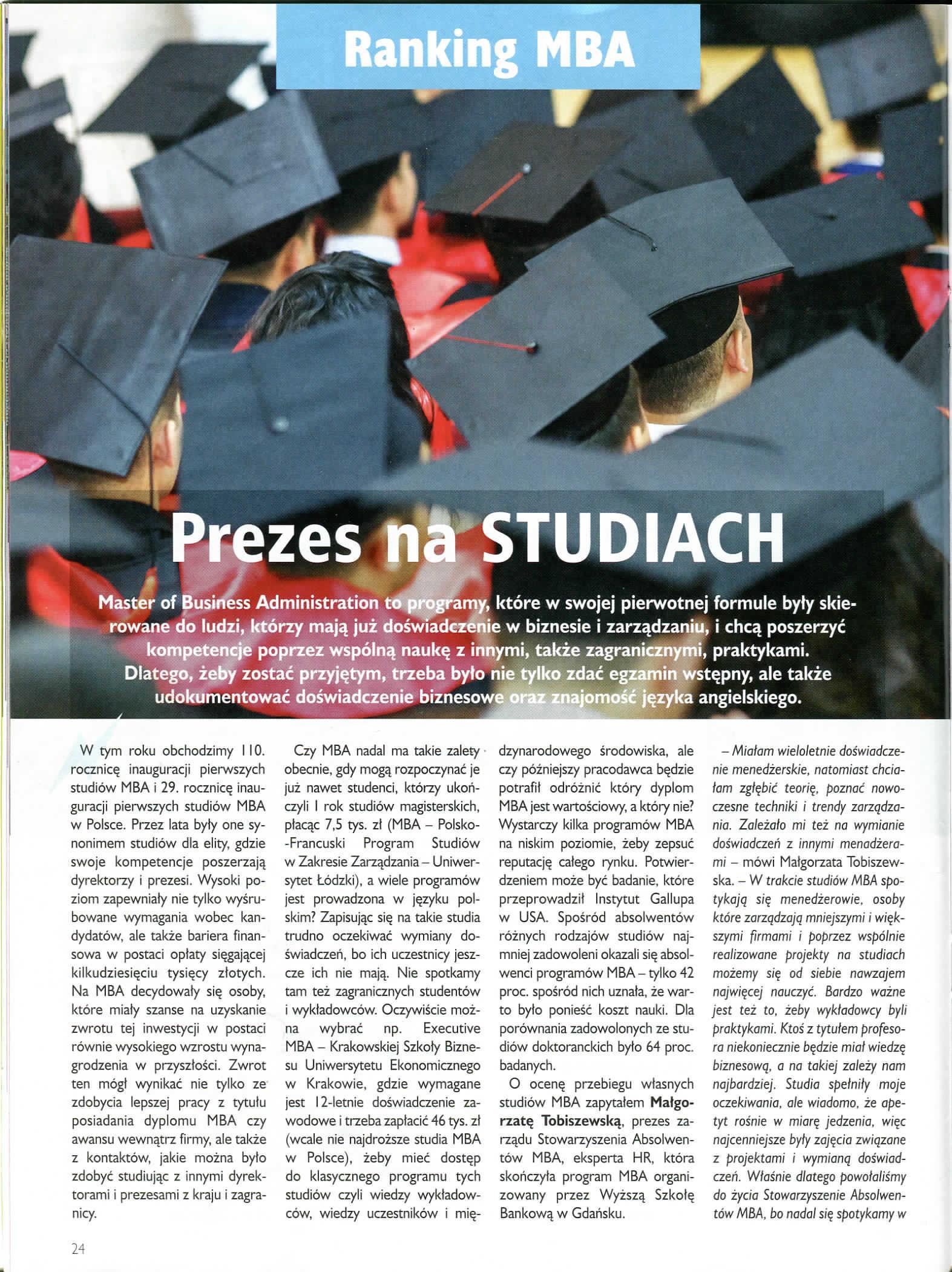 2018.07-08 Perspektywy Ranking MBA_ gfkm w perspektywach przemysław wajda dyrektor mba