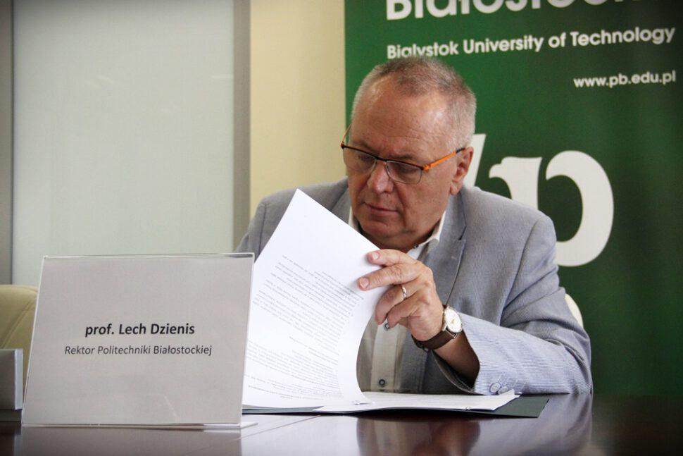 Rektor PB prof. Lech Dzienis, studia menedzerskie mba bialystok