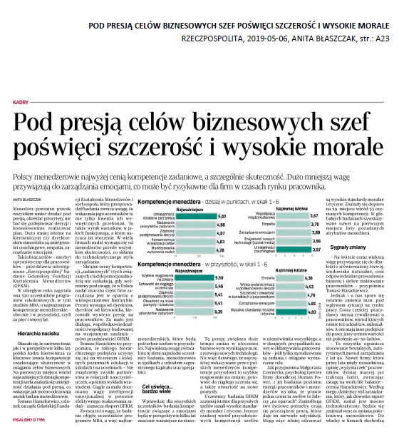 Artykul Rzeczpospolita pod presja celów GFKM 2019 05 06